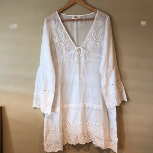 Antica Sartoria Sheer Embroidered Dress/Cover up